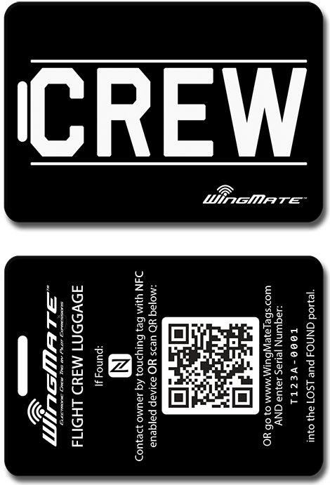 wingmate crew Luggage tags