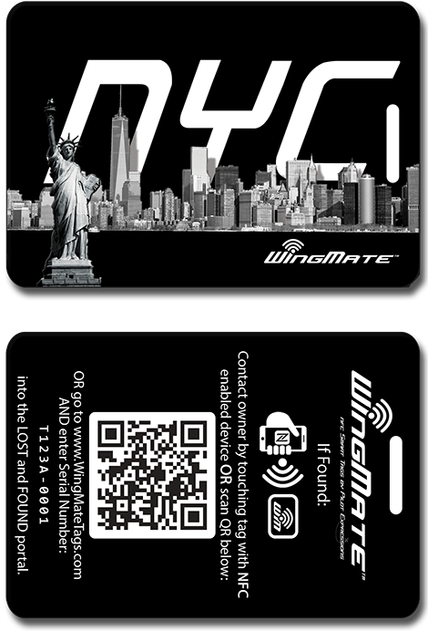 wingmate skyline Luggage tags