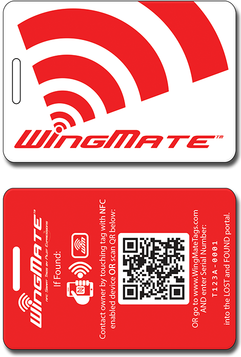 wingmate traveler Luggage tag