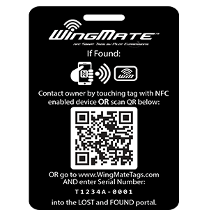 wingmate black Luggage tag