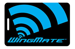 wingmate blue Luggage tag